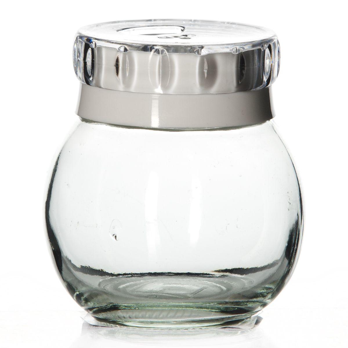 Банка для специй Herevin, цвет: белый, 200 мл. 131007-802131007-802Банка для специй Herevin выполнена из прозрачного стекла и оснащена пластиковой цветной крышкой с отверстиями разного размера, благодаря которым, вы сможете приправить блюда, просто перевернув банку. Крышка снабжена поворотным механизмом, благодаря которому вы сможете регулировать степень подачи специй. Крышка легко откручивается, благодаря чему засыпать специи внутрь очень просто. Такая баночка станет достойным дополнением к вашему кухонному инвентарю. Можно мыть в посудомоечной машине. Диаметр (по верхнему краю): 4 см. Высота банки (без учета крышки): 8 см.