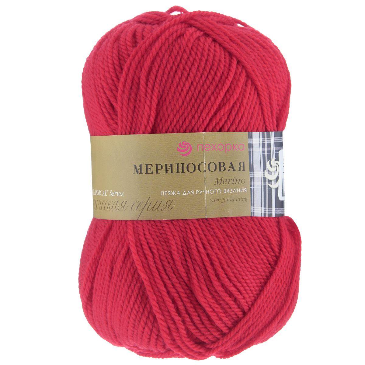 Пряжа для вязания Пехорка Мериносовая, цвет: красный (06), 200 м, 100 г, 10 шт360021_06_06-КрасныйПряжа для вязания Пехорка Мериносовая изготовлена из мериносовой шерсти и акрила. Эта полушерстяная пряжа больше подходит для ручного вязания спицами в одну нить. Пряжа мягкая и нежная, оптимальной толщины. С такой пряжей вы сможете связать своими руками необычные, красивые и теплые вещи. Рекомендованные спицы для вязания № 4. Комплектация: 10 мотков. Состав: 50% мериносовая шерсть, 50% акрил.