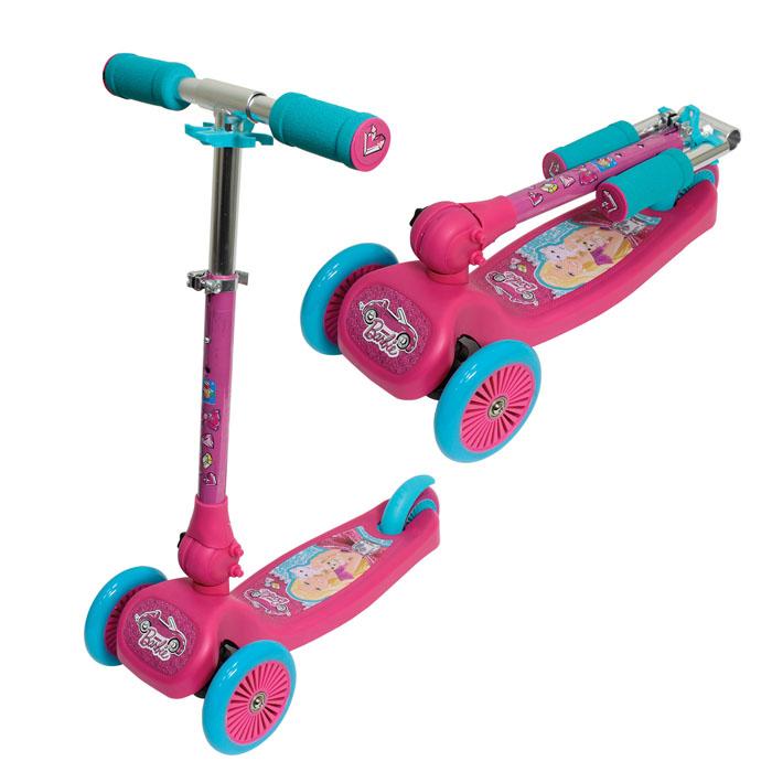 Самокат трехколесный 1TOY BarbieТ57631Cамокат 1TOY Barbie с тремя колесами рассчитан на детей возрастом от 3-х лет и весом до 20 кг. Руль фиксированной высоты, сдвоенное заднее колесо поможет на первых порах держать равновесие. Это очень важно - ведь полученные навыки пригодятся, когда придет время пересесть на двухколесный транспорт. Самокат Barbie складывается, удобен в транспортировке. При соблюдении простых правил этот самокат прослужит достаточно долго - прежде всего, не допускайте выезда на проезжую часть и избегайте неровных поверхностей (с ямами и выбоинами). Детский трехколесный самокат Barbie - отличный подарок для девочки.