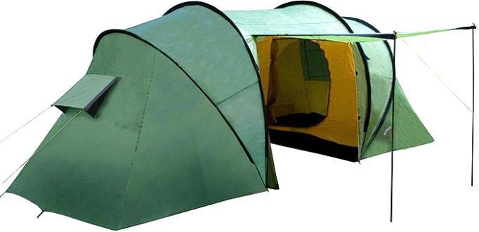 Палатка INDIANA TWIN 6360400002Шестиместная палатка Indiana TWIN 6 с большим тамбуром и антимоскитными сетками. Важным преимуществом качественной палатки является ее надежность и непритязательность в использовании. Размер: 570 x 220 x 200 см.
