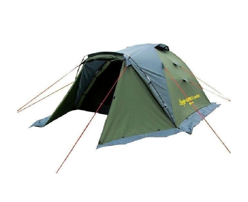 Палатка CANADIAN CAMPER KARIBU 3 comfort30300032Палатка Canadian Camper Karibu 3 Comfort имеет увеличенный тамбур, два входа и большие вентиляционные отверстия. Предусмотрены противомоскитные сетки, которые защитят Вас от назойливых насекомых. Палатка Karibu 3 имеет увеличенные размеры внутренней палатки, что позволяет с комфортом разместиться в ней трем взрослым и одному ребенку. Высота палатки 135 см.