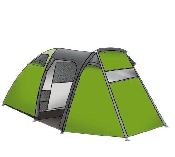 Палатка INDIANA FORESTER 3360200008Двухслойная палатка Indiana Forester 3 рассчитана на 3 туристов. Она очень проста в установке и удобна в эксплуатации. В палатке одна комната и небольшой тамбур. Высокая водонепроницаемость дна и тента обеспечат приятное нахождение внутри палатки в любую погоду. Дуги выполнены из стеклопластика. Есть антимоскитная сетка и внутренние карманы. Важным плюсом палатки является ее надежность и непритязательность в использовании. Внешний размер (ДxШxВ): 355 x 190 x 135 см. Внутренний размер (ДxШxВ): 210 x 180 x 130 см.