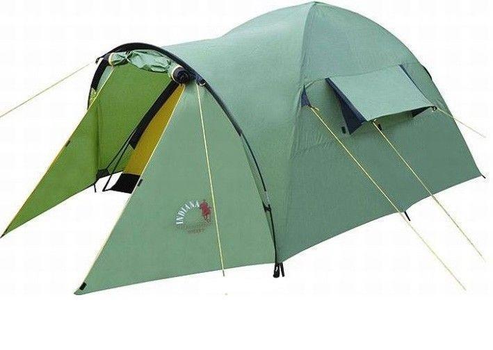 Палатка INDIANA HOGAR 2360100002Американская компания Indiana знаменита своими универсальными, надежными и прочными палатками. Продуманная форма HOGAR 2 сконструирована таким образом, чтобы на ее поверхности не скапливалась вода, даже при сильном ливне. Палатка имеет достаточную высоту и хорошую вместимость. Вентиляционные окна, внутренние карманы, вместительный тамбур, ткань с защитой от ультрафиолета и намокания, герметичные проваренные швы, прочный полиэстровый материал яркой расцветки, - все это нацелено на создание повышенного комфорта для туристов во время путешествия.