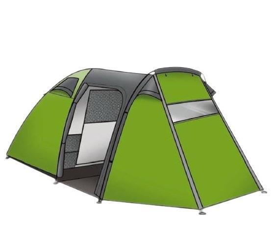 Палатка INDIANA FORESTER 4360300007Модель FORESTER-4 имеет большие габариты, один вход и рассчитана на четверых человек. Удобная конструкция палатки имеет яркий и современный эргономичный дизайн. Плотная водоотталкивающая ткань из полиэстера и прочный каркас обеспечивают комфортабельный и уютный отдых. Простота установки и маленький вес, позволяющий с легкостью переносить ее на длительные расстояния, являются неоспоримыми плюсами данной модели. Палатки фирмы INDIANA имеют большую популярность, и среди начинающих, и в кругах опытных туристов.