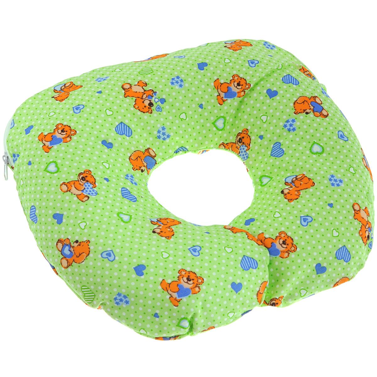 Подушка для младенца Selby Воротник (0005582), цвет: салатовый
