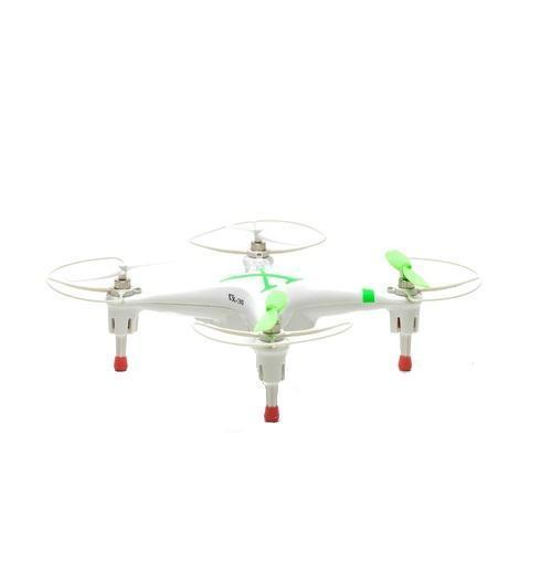 Bluesea Квадрокоптер на радиоуправлении CX-30 цвет зеленыйCX-30_3Квадрокоптер CX-30 - отличная модель квадрокоптера для развлечения. Ввиду установленной защитной рамы и материала, из которого он сделан, этот мультикоптер может подойти даже детям, ведь винты будут всегда оставаться целыми при падении. Средние размеры CX-30 и 6-ти осевой гироскоп делают его более устойчивым против ветра. Аккумулятор у него достаточно емкостный и его заряда хватает на 5-8 минут полета, а чтобы он зарядился, придется подождать 1,5 часа.