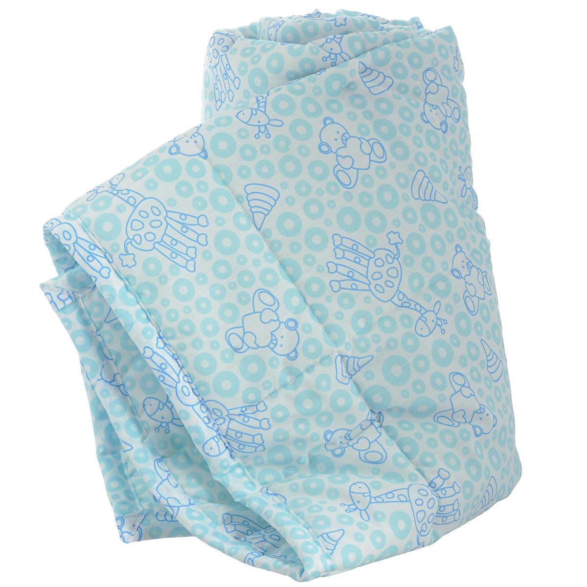Одеяло детское Baby Nice Жирафы, стеганое, цвет: голубой, 110 см x 140 см. Q0412323Q0412323