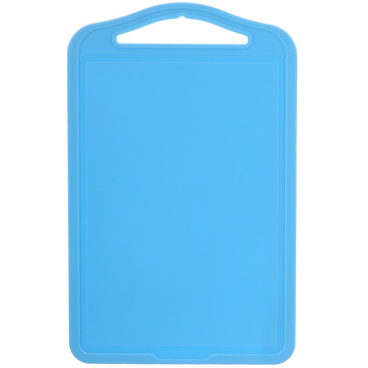 Доска разделочная Dunya Plastik Эко, цвет: голубой, 28 х 17,5 см10821Разделочная доска Dunya Plastik Эко изготовлена из высококачественного пищевого пластика. Доска снабжена желобками для стока жидкости, а также ручкой. При работе на такой доске ножи не будут затупляться, а резать продукты будет легко и комфортно. Отличный кухонный аксессуар, который необходим на каждой кухне.