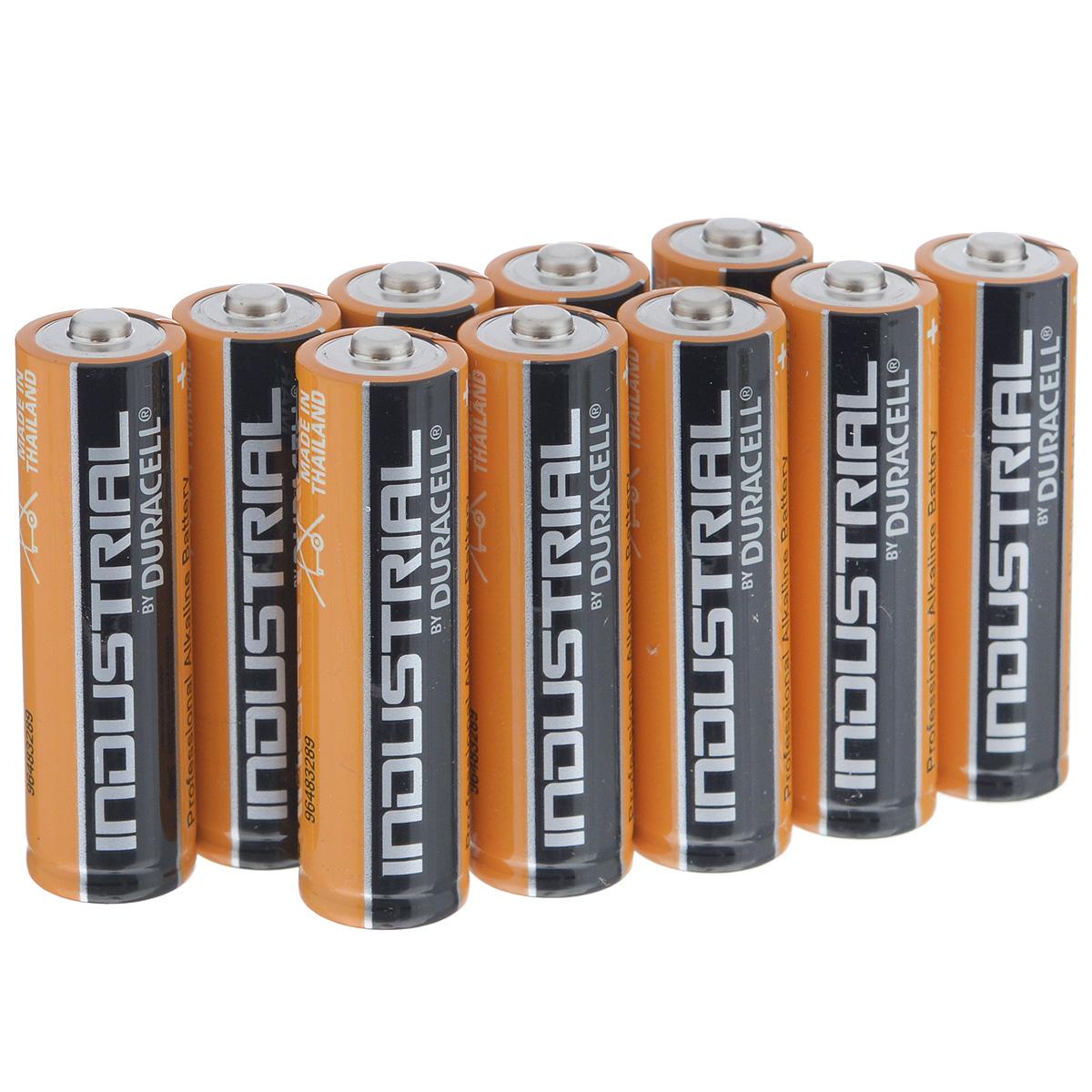 Батарейка алкалиновая Duracell Industrial LR6, тип АА, 1,5V, 10 штPRC-81481915Батарейка алкалиновая Duracell Industrial LR6 предназначена для использования в приборах с высоким потреблением электроэнергии: фотоаппараты, плееры, фонари.