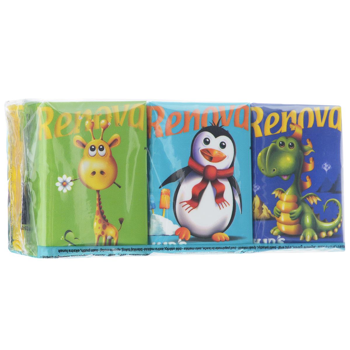 Платочки бумажные Renova Kids Compact, без запаха, цвет: белый, 6 пачек200044871Бумажные гигиенические платочки Renova Kids Compact, изготовленные из 100% натуральной целлюлозы, идеально подходят детям. Они обладают уникальными свойствами, так как всегда остаются мягкими на ощупь, прочными и отлично впитывающими влагу и могут быть пригодными в любой ситуации. Яркие бумажные платочки Renova Kids Compact не имеют запаха. Очаровательные рисунки животных на упаковке обязательно понравятся вашему ребенку. Удобная небольшая упаковка позволит вашему ребенку всегда носить платочки с собой. Количество слоев: 3. Количество пачек: 6 шт. Количество платочков в каждой пачке: 9 шт. Португальская компания Renova является ведущим разработчиком новейших технологий производства, нового стиля и направления на рынке гигиенической продукции. Современный дизайн и высочайшее качество, дерматологический контроль - это то, что выделяет компанию Renova среди других производителей бумажной...