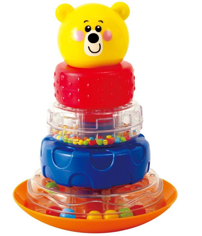 Playgo Развивающая игрушка Пирамида-неваляшка МишкаPlay 2392Развивающая игрушка Playgo Пирамида-неваляшка Мишка, изготовленная из высококачественного прочного пластика, состоит из подставки, четырех колесиков-погремушек и верхушки пирамидки в виде головы медведя. Яркая пирамидка из разных колечек позабавит вашего малыша. Чтобы получился мишка, крохе необходимо собрать все детали пирамидки-неваляшки на одну ось, что будет не так-то просто! Учитесь складывать колесики-погремушки по порядку! Тренируйте глазомер и координацию на шаткой подставке! Игрушка Playgo Пирамида-неваляшка Мишка поможет вашему малышу развить мелкую моторику рук, цветовое восприятие, логическое мышление, координацию движений, зрительную и слуховую координацию. Отбор и укладка каждого элемента пирамидки развивает творческие и математические способности ребенка.
