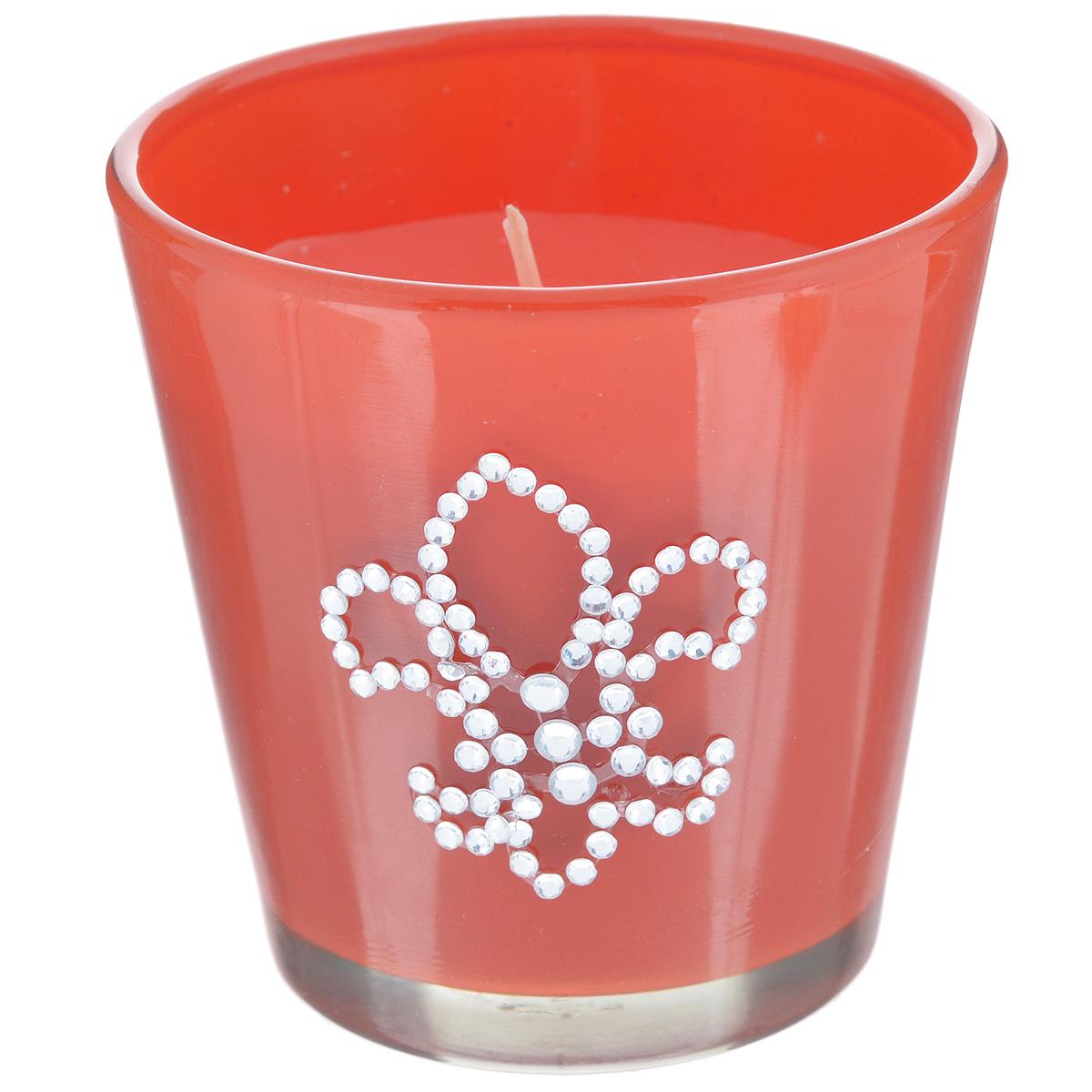 Свеча декоративная Феникс-презент Апельсин, ароматизированная32764Оригинальная ароматизированная свеча Феникс-презент Апельсин, изготовленная из парафина, помещена в стакан из матового стекла, декорированный стразами. Свеча наполнит вашу комнату приятным цитрусовым ароматом и создаст в ней уютную атмосферу. Вы можете поставить свечу в любом месте, где она будет удачно смотреться и радовать глаз. Кроме того, эта свеча - отличный вариант подарка для ваших близких и друзей.
