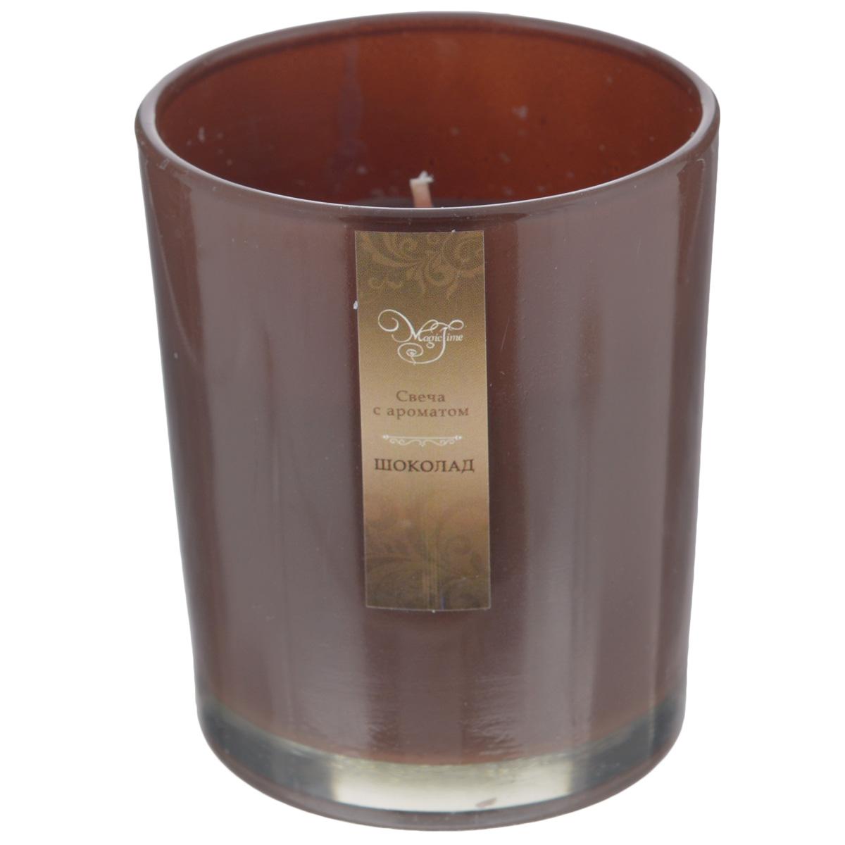 Свеча декоративная Феникс-презент Шоколад, ароматизированная32771Оригинальная ароматизированная свеча Феникс-презент Шоколад, изготовленная из парафина, помещена в стакан из матового стекла. Свеча наполнит вашу комнату приятным шоколадным ароматом и создаст в ней уютную атмосферу. Вы можете поставить свечу в любом месте, где она будет удачно смотреться и радовать глаз. Кроме того, эта свеча - отличный вариант подарка для ваших близких и друзей.