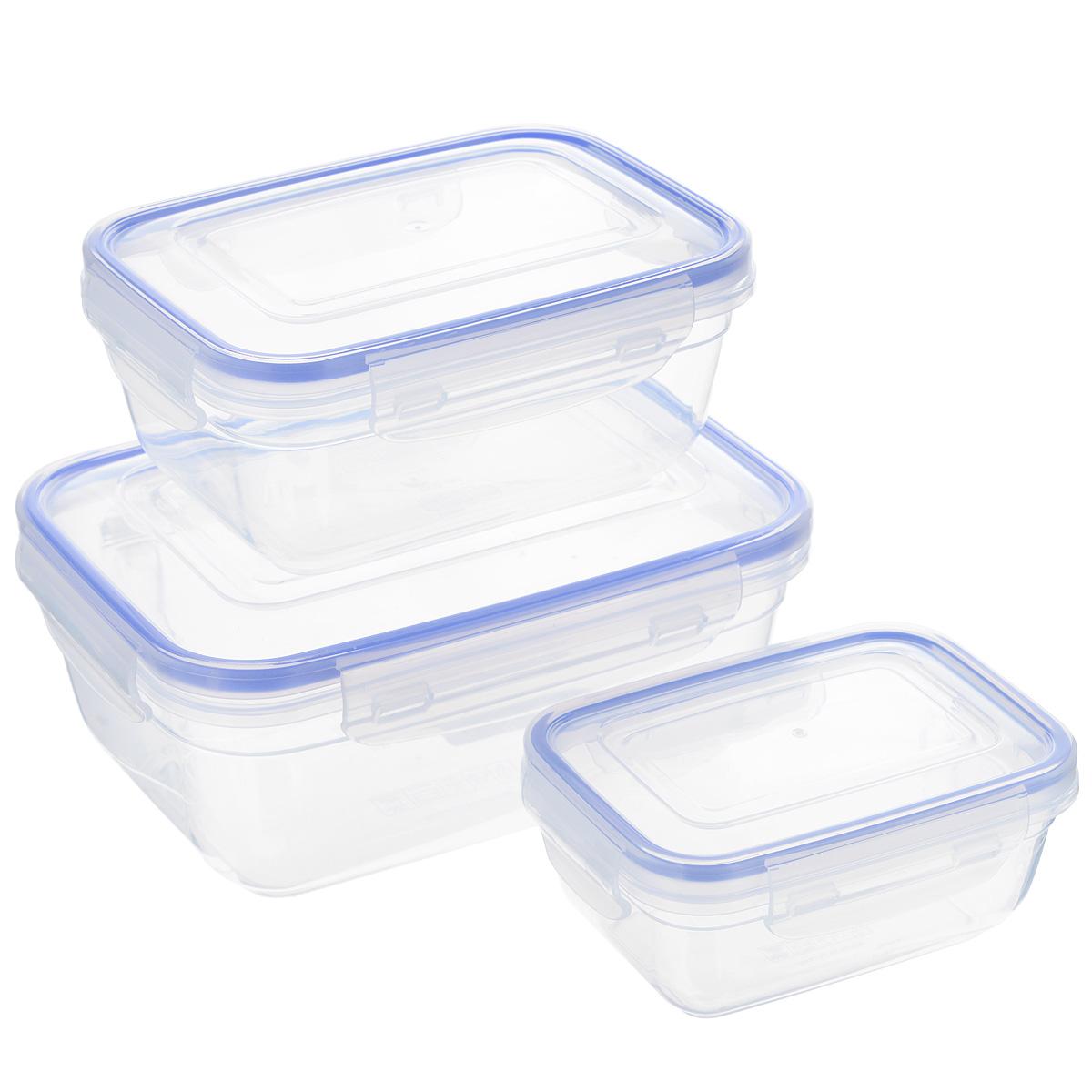 Набор прямоугольных контейнеров Dunya Plastik, 3 шт. 3014730147Набор Dunya Plastik состоит из трех прямоугольных контейнеров разного объема. Изделия выполнены из высококачественного пищевого прозрачного пластика без примеси бисфенола. Такой пластик не содержит вредных веществ и подходит для контакта с пищевыми продуктами. Контейнеры оснащены вакуумными крышками, которые плотно закрываются на 4 защелки, а благодаря силиконовой прослойке обеспечивают герметичность. Контейнеры непроницаемы для воздуха и жидкости. Подходят для хранения и транспортировки пищи. Складываются друг в друга, что экономит пространство при хранении в шкафу. Подходят для использования в микроволновой печи без крышки (до +95°С), для заморозки при минимальной температуре -25°С. Можно мыть в посудомоечной машине. Объем контейнеров: 400 мл; 800 мл; 1400 мл. Размер контейнеров: 9,6 см х 13,5 см х 5,7 см; 12 см х 16 см х 7,3 см; 14,5 см х 19,5 см х 8,5 см.