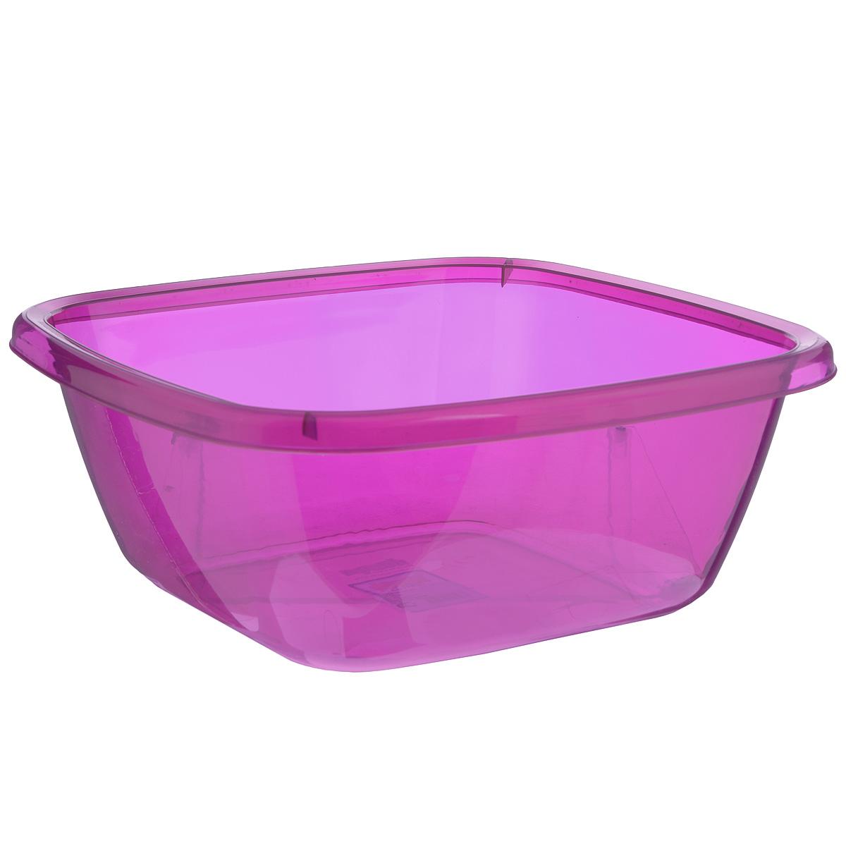 Таз квадратный Dunya Plastik, цвет: фуксия, 9,5 л10128Квадратный таз Dunya Plastik выполнен из прочного прозрачного пластика. Подойдет для различных бутовых нужд на кухне, в ванной, гараже и т.д. Такой таз пригодится в любом хозяйстве.