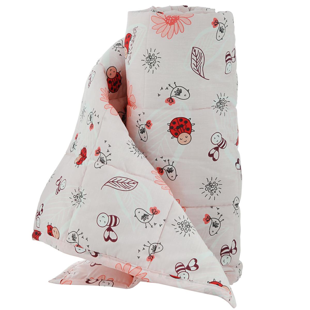 Одеяло детское Baby Nice Божьи коровки, стеганое, цвет: красный, 110 см x 140 см. Q0412123Q0412123