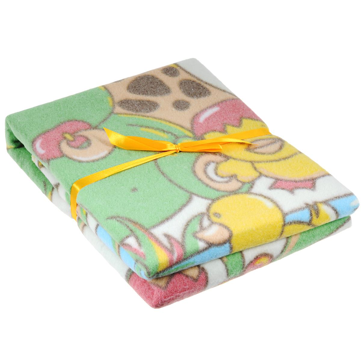 Одеяло детское Baby Nice У озера, байковое, цвет: желтый, 85 см x 115 смD111511