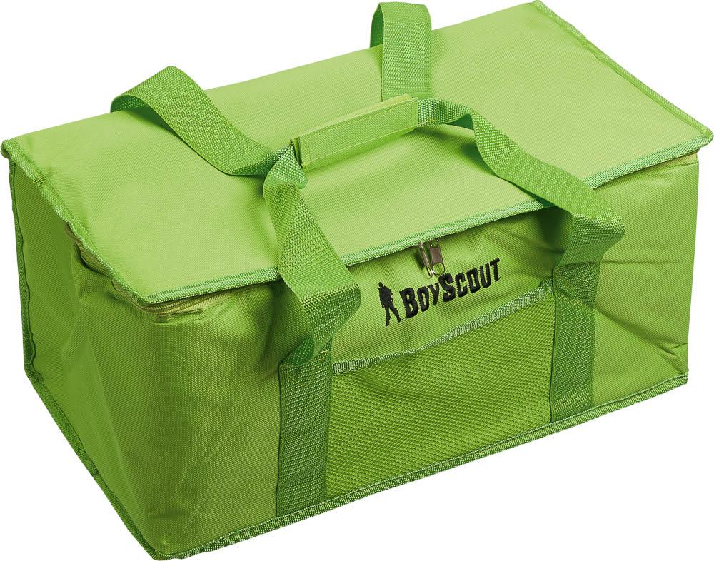 Термосумка Boyscout, 24 л61053Термосумка Boyscout предназначена для транспортировки и хранения горячих и холодных продуктов. Сумка закрывается на застежку-молнию. Применяемые в изготовлении термосумки материалы и технологии позволяют сохранять продукты глубокой заморозки. Напитки остаются прохладными. Для наиболее продолжительного эффекта рекомендуется использовать хладоэлементы. Материал: полиэстер, вспененный полиэтилен, алюминиевая фольга.