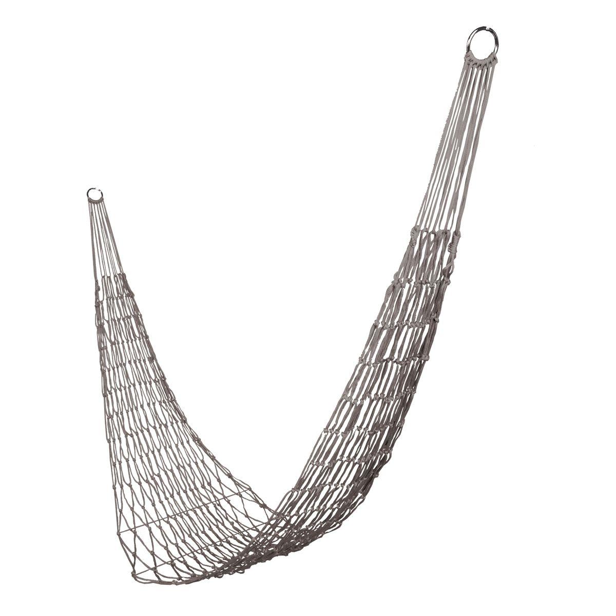 Гамак-сетка Boyscout Походный, цвет: серый, 200 х 80 см61074Легкий, прочный и компактный гамак Boyscout Походный выполнен из высококачественного нейлона в виде сетки. Гамак предназначен для комфортного отдыха на даче, пикнике или походе. Крепится изделие к двум опорам (деревьям или стойкам). Использование гамака в домашних условиях предполагает крепление на завинчивающие винты. Такой гамак внесет дополнительный комфорт в ваш отдых.