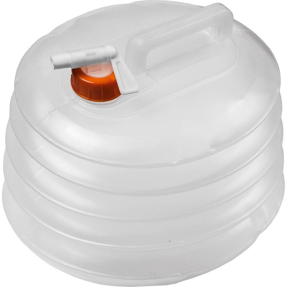 Канистра для воды Boyscout, складная, 8 л61145Складная канистра Boyscout на 8 литров, изготовленная из очень прочного пищевого полиэтилена, несомненно, пригодится вам во время путешествия. В сложенном виде канистра занимает очень мало места. Заполняется канистра с помощью откручивающегося вентиля, на крышке имеется специальный кран-клапан, делающий подачу воды максимально удобной. Канистра оснащена крепкой ручкой. Размер канистры в сложенном виде: 26 см х 23 см х 3 см.