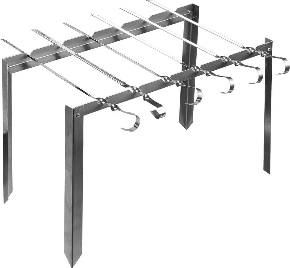 Мангал каркасный Boyscout Таганок, 6 шампуров, 42 х 4 х 25 см61234Сборный каркасный мангал Boyscout Таганок изготовлен из нержавеющей стали. Предназначен для приготовления мяса, птицы, рыбы, овощей на открытом воздухе. На мангале можно расположить 6 шампуров. Мангал хорошо поддерживает жар, не требуя большого количества топлива. Простота и легкость конструкции мангала обеспечивают его быструю сборку и длительную эксплуатацию. В разобранном виде мангал очень компактен, благодаря чему он не занимает много места, например, в багажнике автомобиля. Для удобства хранения и транспортировки, мангал упакован в текстильный чехол. Размер: 42 см х 4 см х 25 см. Длина шампура: 35 см.