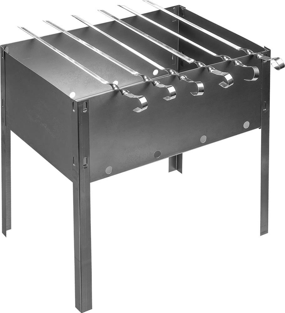 Мангал сборный Boyscout, 6 шампуров, 35 см х 25 см х 35 см 6123561235Сборный переносной мангал Boyscout изготовлен из нержавеющей стали. Предназначен для приготовления мяса, птицы, рыбы, овощей на открытом воздухе. На мангале можно расположить 6 шампуров. Мангал хорошо поддерживает жар, не требуя большого количества топлива. Простота и легкость конструкции мангала обеспечивают его быструю сборку и длительную эксплуатацию. В разобранном виде мангал очень компактен, благодаря чему он не занимает много места, например, в багажнике автомобиля. В комплекте к мангалу прилагается набор из 6 шампуров. Размер мангала: 35 см x 25 см x 35 см. Длина шампура: 37 см.