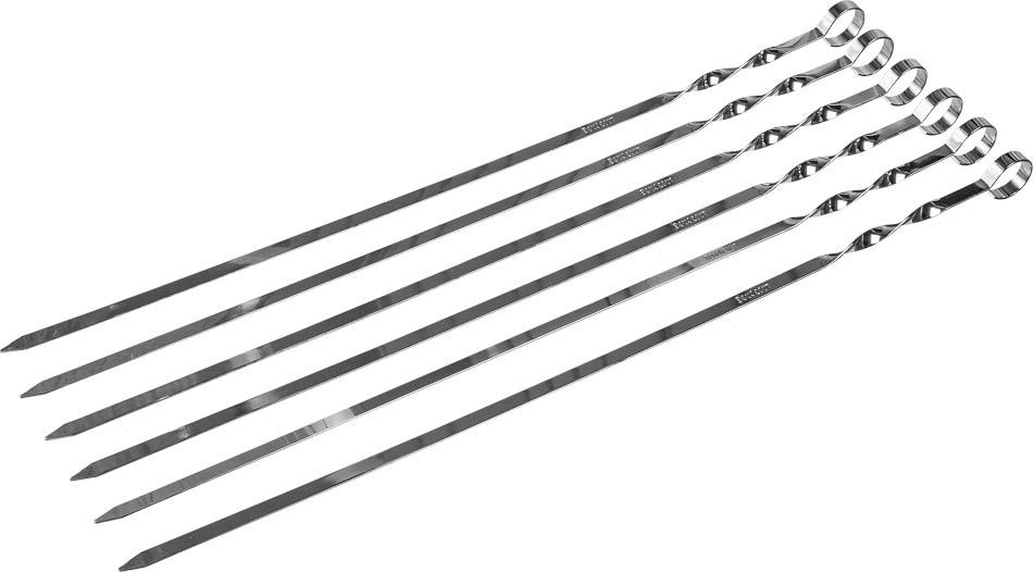 Шампуры плоские Boyscout, 45 см, 6 шт61327Набор плоских шампуров Boyscout изготовлен из высококачественной стали с пищевым хромированным покрытием. Шампуры идеально подходят для приготовления шашлыков из мяса, рыбы, птицы и овощей. Длина шампура: 45 см. Ширина: 1 см.