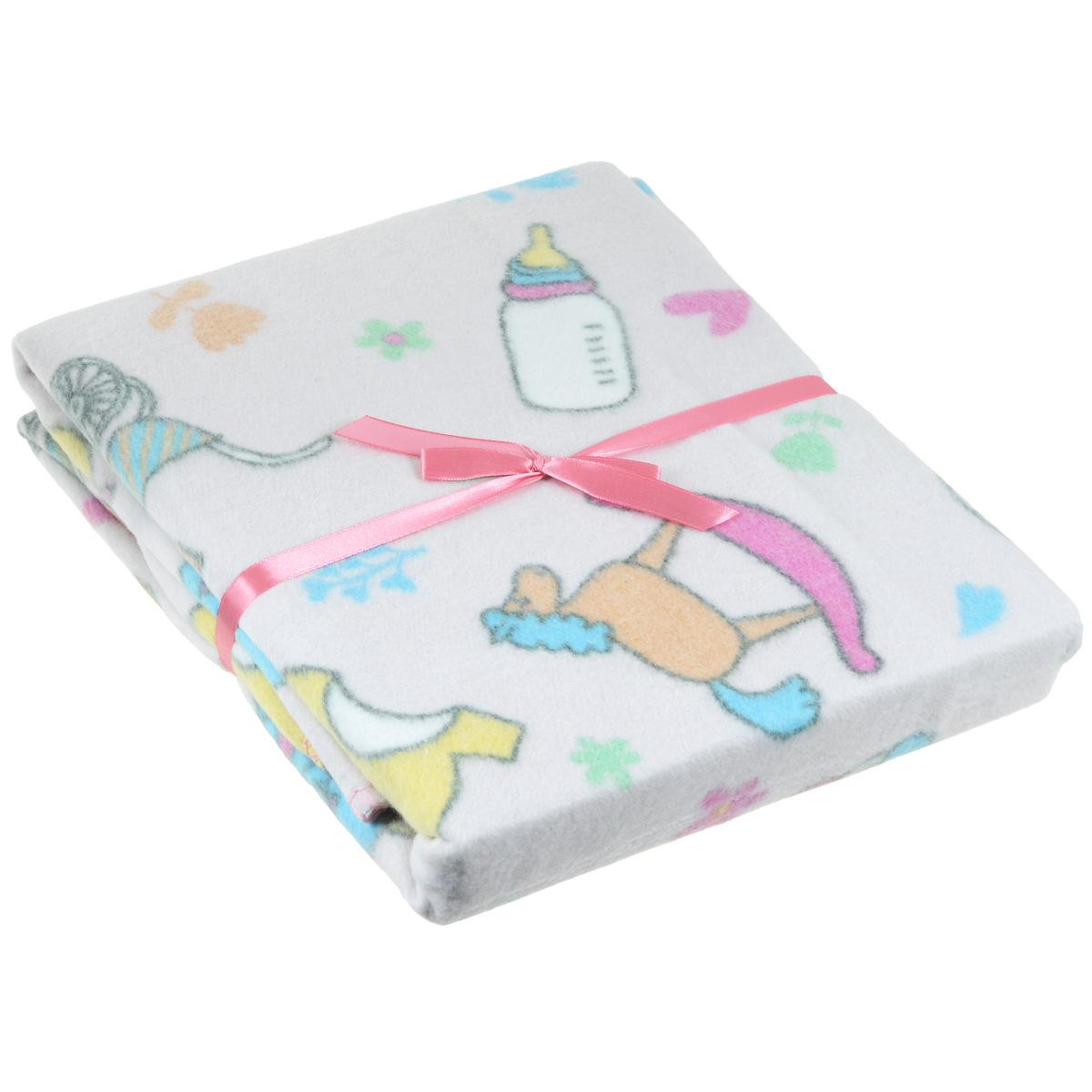 Одеяло детское Baby Nice Малыш, байковое, цвет: розовый, 100 см x 118 смD211511