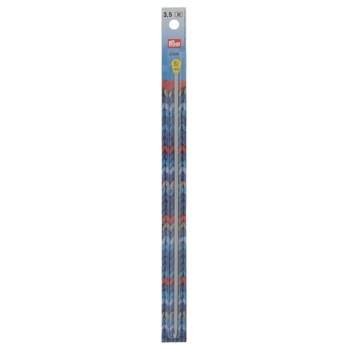 Крючок для тунисского вязания Prym, цвет: жемчужно-серый, диаметр 3,5 мм, длина 30 см195216Крючок Prym, изготовленный из металла, предназначен для вязания изделий с тунисским плетением. Крючок оснащен пластиковым наконечником. Изделия, связанные длинным крючком, практичны в носке, так как тунисское полотно не вытягивается ни в длину, ни в ширину и почти не деформируется после стирки. Диаметр крючка: 3,5 мм. Материал: алюминий, пластик.