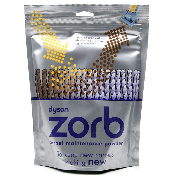 Dyson Zorb чистящее средства для сухой химчистки (903914-09)903914-09Порошок для сухой химчистки ковров Dyson Zorb. Идеально чистит ковры из шерсти, а также для покрытия стойкие к появлению пятен. После использования не оставляет липкого и любого другого осадка/налета, не воздействует на кожу. После использования не оставляет липкого и любого другого осадка/налета. 100% биоградируемый и перерабатываемый состав. Дерматологически сбалансирован. Рекомендации по применению: Равномерно рассыпьте на ковре Вотрите и утрамбуйте глубоко в ворсяное покрытие Подождите 30 минут Тщательно пропылесосьте ковровое покрытие