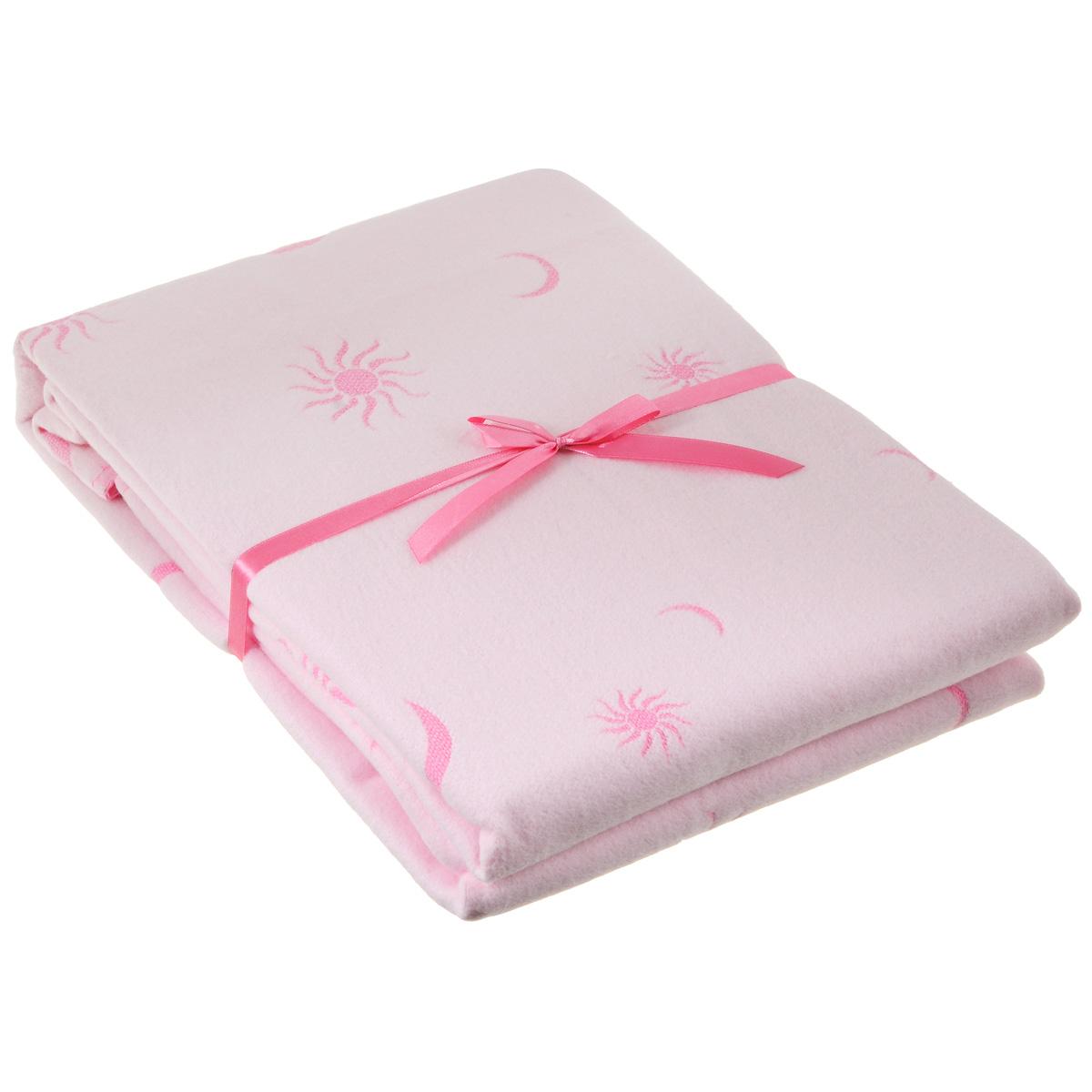 Одеяло детское Baby Nice Луна, байковое, цвет: розовый, 100 см x 140 смD311511