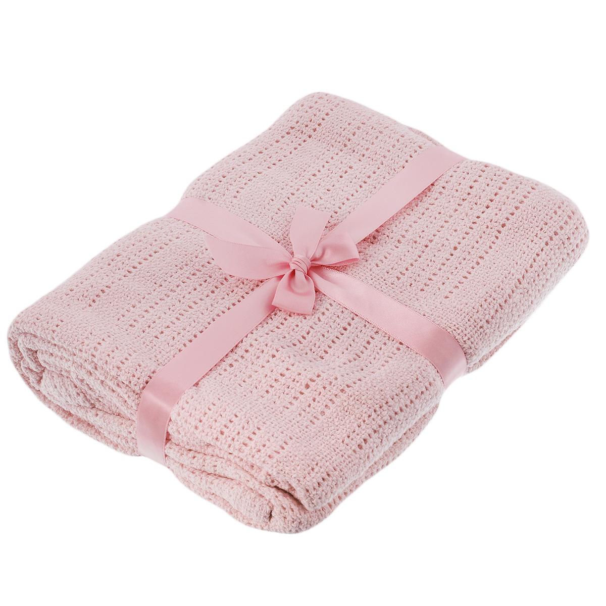 Одеяло детское Baby Nice, вязаное, цвет: розовый, 100 см x 140 см. D40612D40612