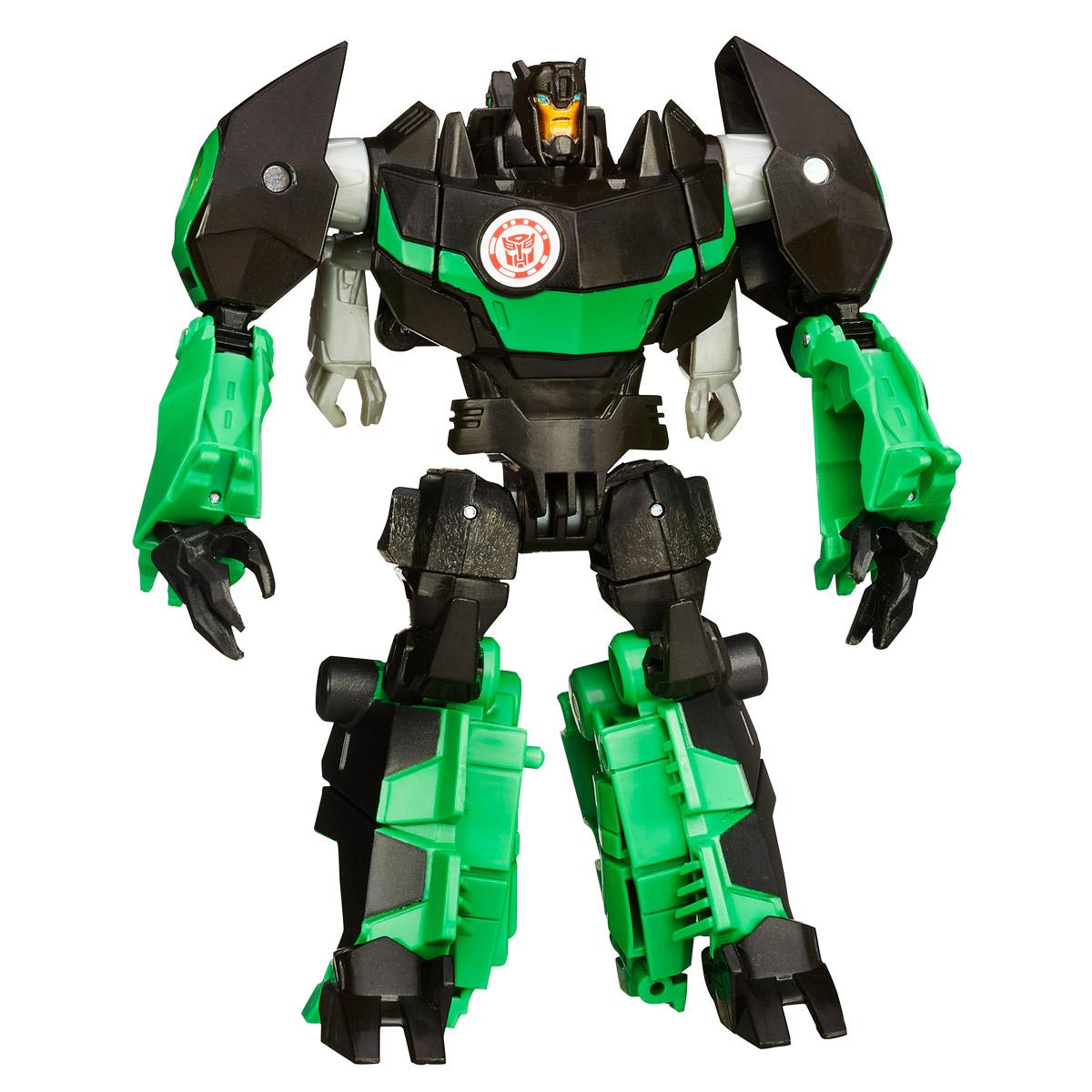 Transformers Robots In Disguise GrimlockB0070EU4_B0908Фигурка Transformers Robots In Disguise Grimlock обязательно понравится любому маленькому поклоннику знаменитых Трансформеров! Фигурка выполнена из прочного пластика в виде трансформера-автобота Гримлока. Руки и ноги робота подвижны. В 10 простых шагов малыш сможет трансформировать фигурку робота в грозного динозавра. Фигурка отличается высокой степенью детализации. Небольшие размеры фигурки позволят брать ее с собой на прогулку или в гости. Ребенок с удовольствием будет играть с фигуркой, придумывая разные истории. Порадуйте его таким замечательным подарком!
