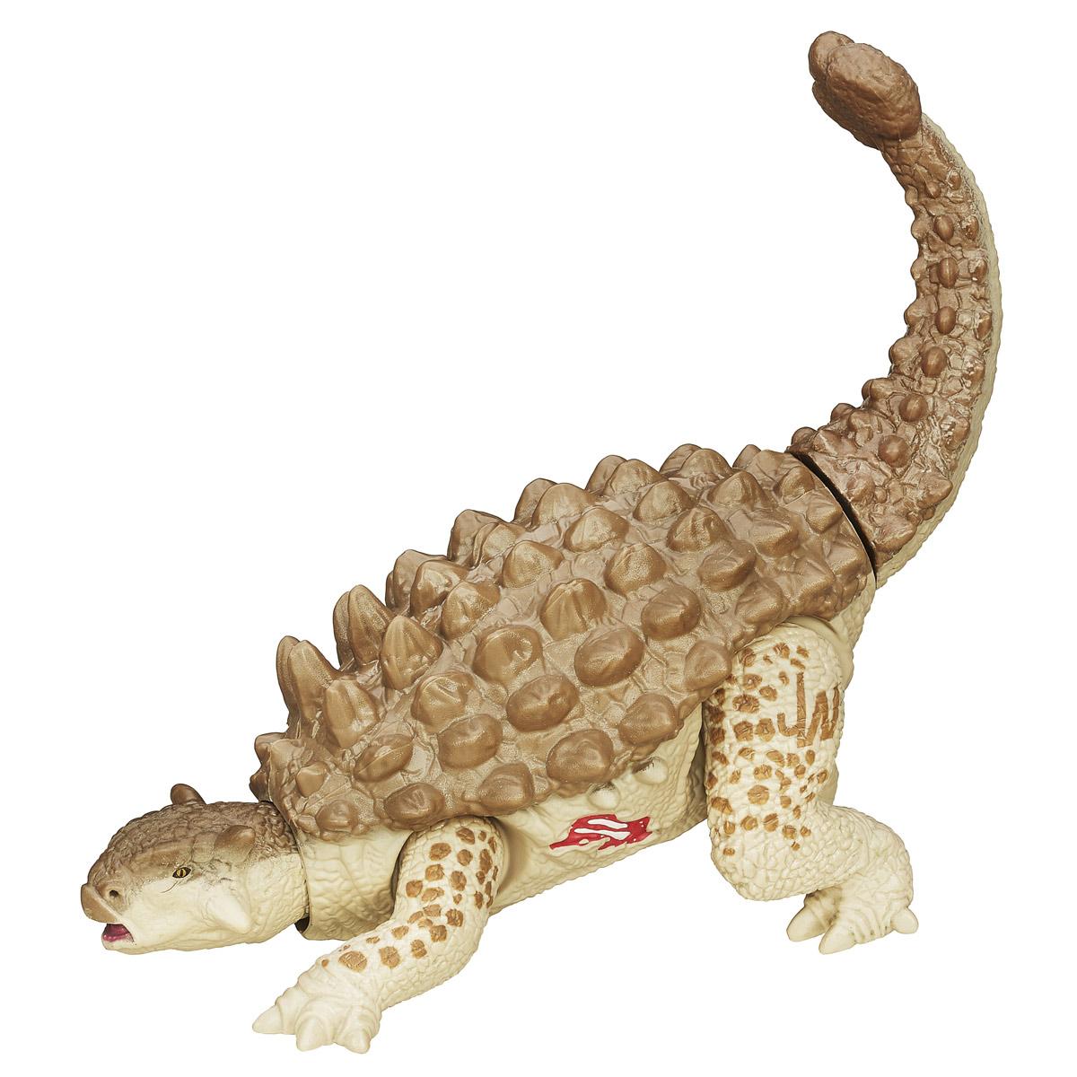 Фигурка Jurassic World AnkylosaurusB1271_B1273_ANKYLOSAURUSФигурка динозавра Jurassic World Ankylosaurus непременно понравится вашему ребенку! Огромный доисторический ящер у вас дома - теперь это реальность. Что может быть лучше в качестве подарка для ребенка или поклонника культового фильма Парк Юрского периода? Фигурка обладает отличной детализацией и сохранением пропорций тела динозавра. Игрушка изготовлена из безопасных и надежных материалов, на высоком уровне имитирующих особенности кожи древних ящеров. Верхние и нижние конечности фигурки двигаются. При движении хвостом рептилия также выдвигает голову на подвижной шее. Голова также поворачивается в стороны. Ваш ребенок часами будет играть с фигуркой, придумывая различные истории. Порадуйте его таким замечательным подарком!