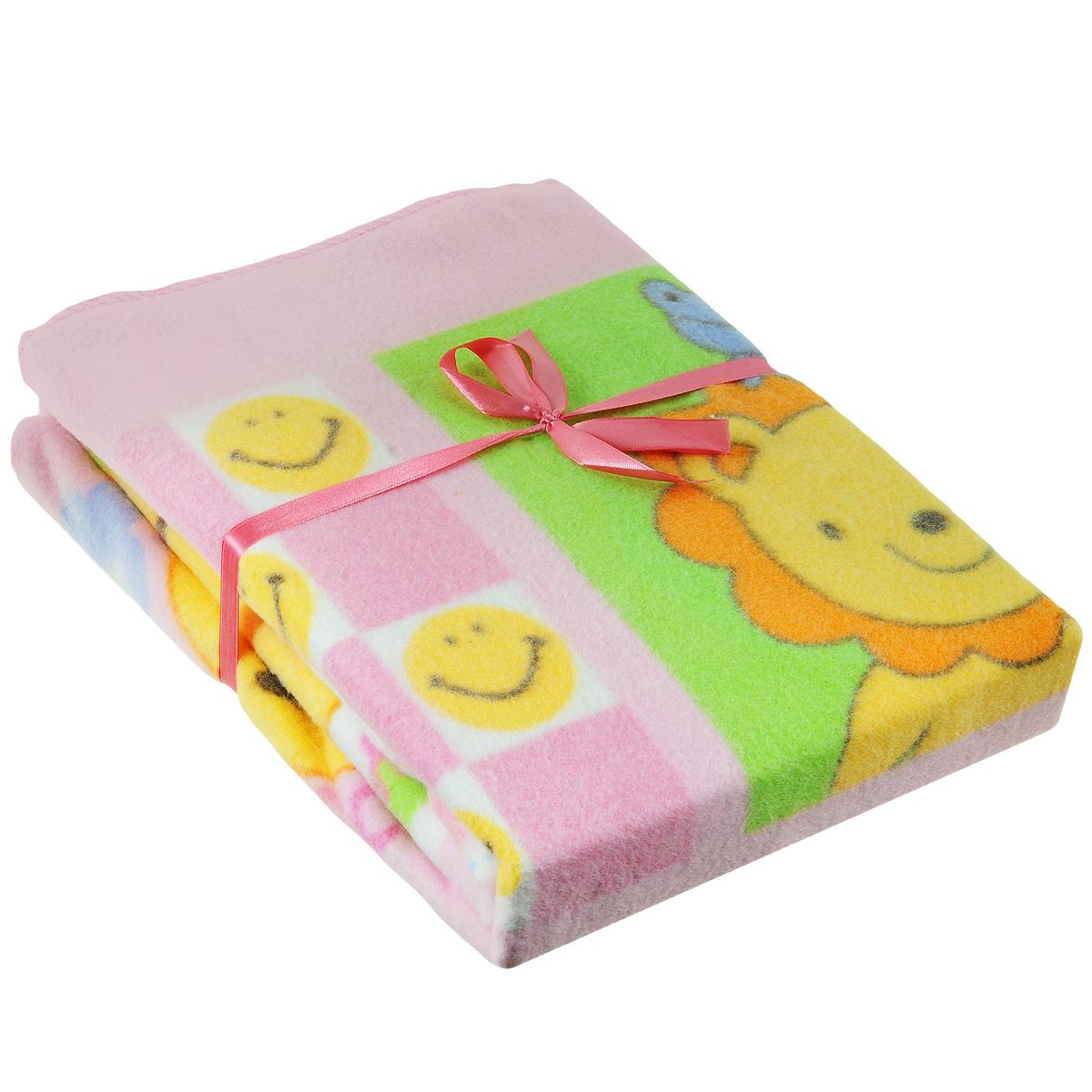 Одеяло детское Baby Nice Солнышки, байковое, цвет: розовый, 100 см x 140 смD311511