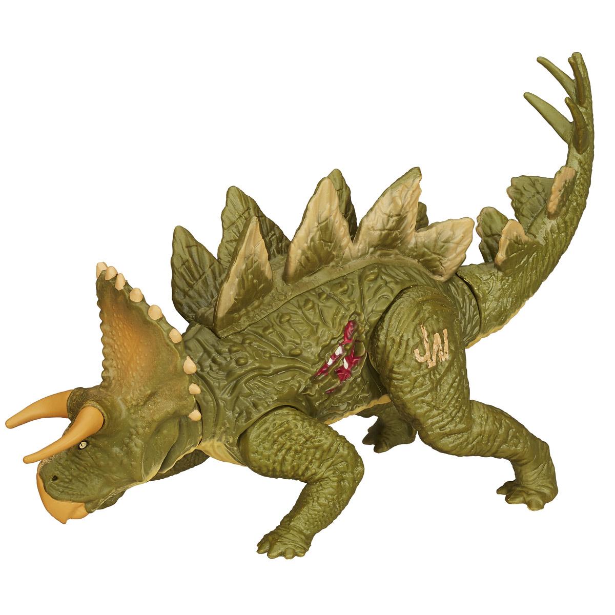 Фигурка Jurassic World StegoceratopsB1271_B1272_STEGOCERATOPSФигурка динозавра Jurassic World Stegoceratops непременно понравится вашему ребенку! Огромный доисторический ящер у вас дома - теперь это реальность. Что может быть лучше в качестве подарка для ребенка или поклонника культового фильма Парк Юрского периода? Фигурка обладает отличной детализацией и сохранением пропорций тела динозавра. Игрушка изготовлена из безопасных и надежных материалов, на высоком уровне имитирующих особенности кожи древних ящеров. Верхние и нижние конечности фигурки двигаются. При движении хвостом рептилия также выдвигает голову на подвижной шее. Голова также поворачивается в стороны. Ваш ребенок часами будет играть с фигуркой, придумывая различные истории. Порадуйте его таким замечательным подарком!