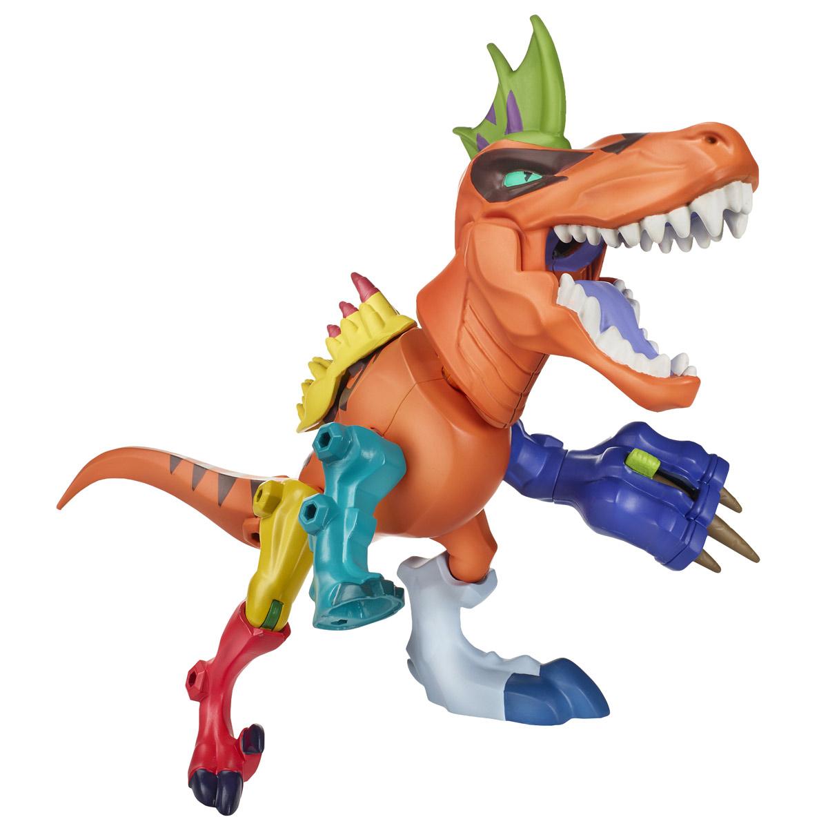 Разборная фигурка Hero Mashers Jurassic World: Tyrannosaurus Rex-AmargasaurusB1198Разборная фигурка Hero Mashers Jurassic World: Tyrannosaurus Rex-Amargasaurus обязательно понравится любому маленькому поклоннику культового фильма Парк Юрского периода! Фигурка выполнена из прочного пластика в виде Тираннозавра Рекса, части которого могут быть заменены на части амаргазавра. Голова и конечности фигурки подвижны, вращаются и сгибаются, а также отделяются от корпуса. Тираннозавр умеет выпускать снаряд, выдвигать когти, а так же в комплекте идут дополнительные детали для невероятных комбинаций. Фигурка совместима с другими фигурками из серии Hero Mashers. Собрав коллекцию фигурок от Hasbro, вы сможете создать своего героя, объединяя способности разных героев вселенной Jurassic World. Все элементы обладают единым способом крепления, что позволяет создавать различные комбинации. Ребенок с удовольствием будет играть с фигуркой, придумывая разные истории. Порадуйте его таким замечательным подарком!