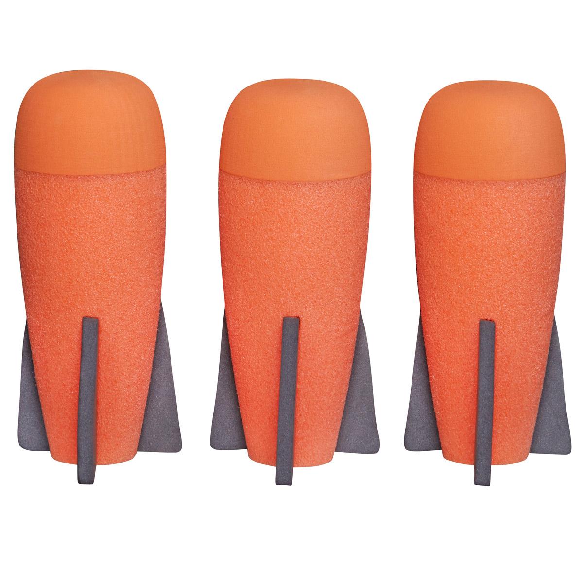 Nerf N-Strike Elite Набор ракет 3 штA8951EU4_оранжевыйНабор Nerf N-Strike Elite состоит из 3 безопасных ракет яркого цвета, выполненных из мягкого и гибкого вспененного полимера и поролона. Обтекаемая и динамичная конструкция ракет позволяет стрелять более прицельно, делая игру еще более интересной. Ракеты Nerf Rebelle подходят для бластеров  Разрушитель серии N-Strike Elite.
