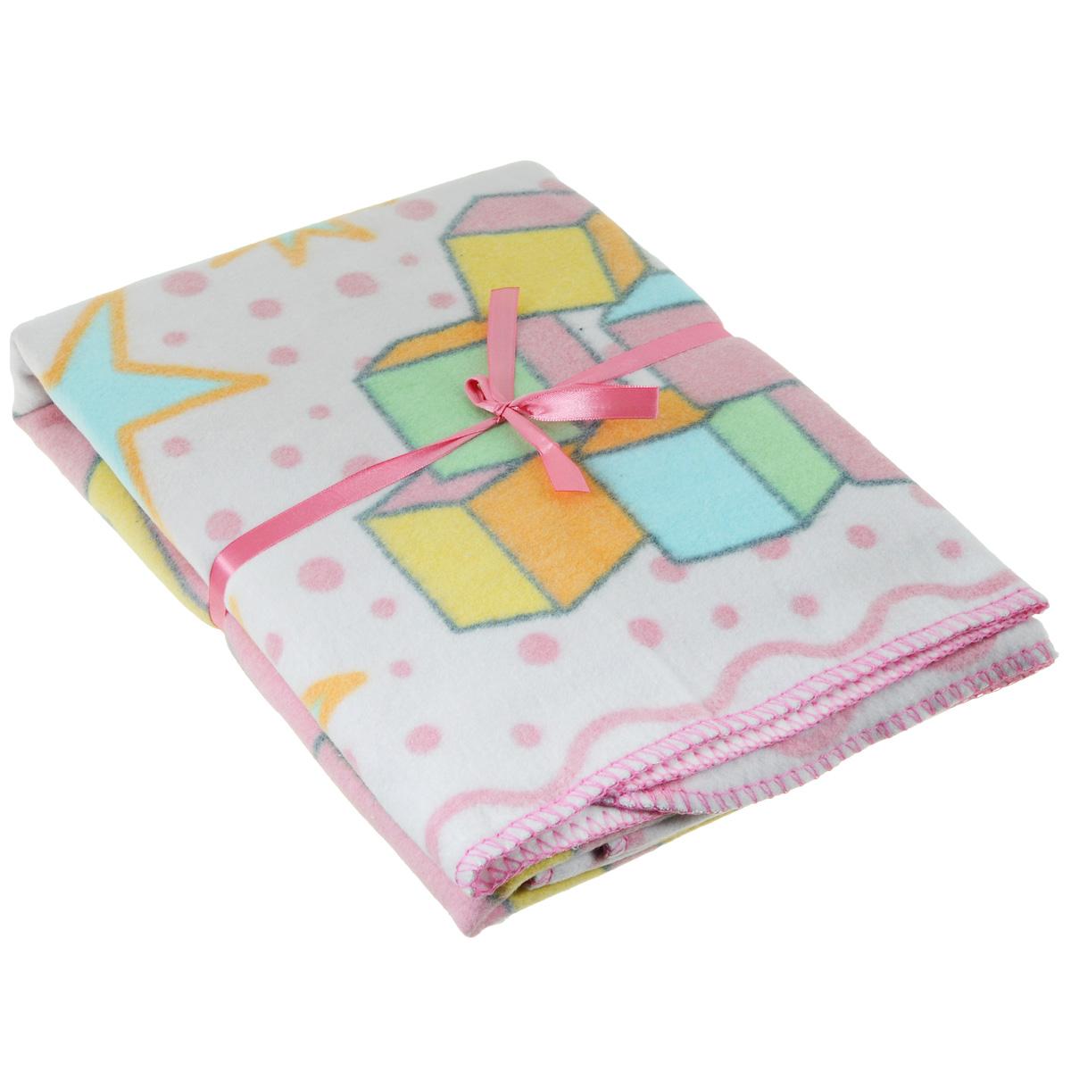 Одеяло детское Baby Nice Пора спать, байковое, цвет: розовый, 100 см x 140 смD311511