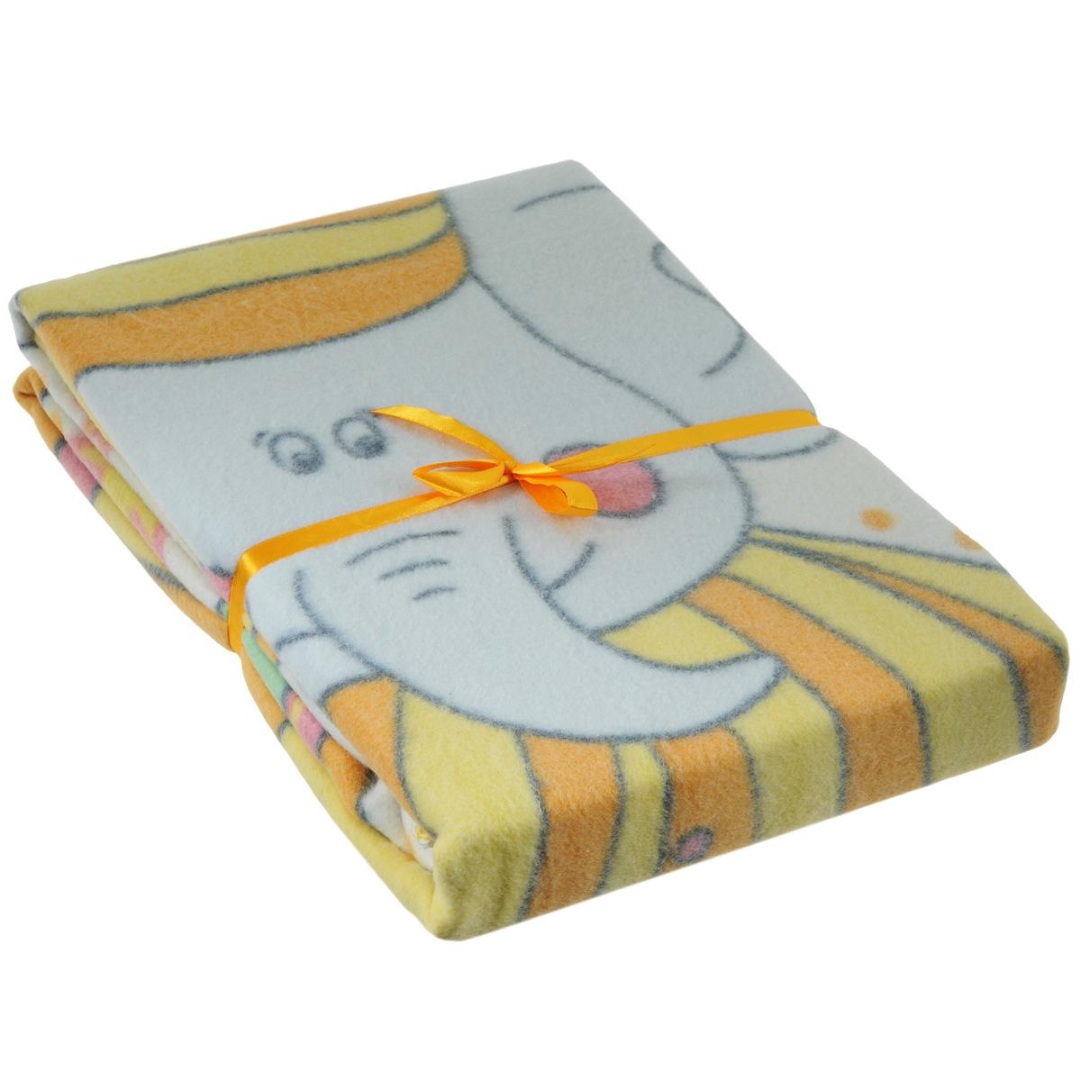 Одеяло детское Baby Nice Пора спать, байковое, цвет: желтый, 100 см x 140 смD311511