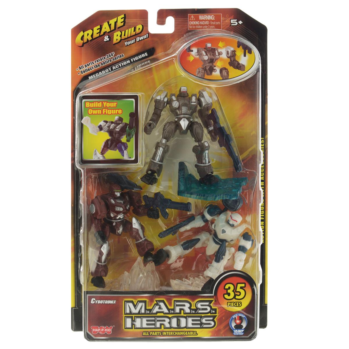 Игровой набор Герои Марса. Darkbeat, Frosty, Blaster4094Игровой набор Герои Марса состоит из трех роботов, мощного оружия для них и четырех подставок. Благодаря тому, что конечности робота прикреплены к телу на шарнирах, вы сможете без труда поворачивать их руки и ноги в разные стороны. Каждое из пяти оружий, входящих в комплект, легко фиксируется в руках робота. Теперь у вас появилась возможность собрать свою коллекцию Героев Марса. Компания Happy Kid Toy Group Ltd была основана более 20 лет назад, сегодня она известна под брэндом HAP-P-KID®, благодаря которому заслужила отличную репутацию в отрасли производства детских игрушек. Happy Kid Toy Group Ltd один из ведущих производителей и импортеров высококачественных игрушек из пластмассы. Продукция компании яркая, инновационная и недорогая, отвечает запросам покупателей и соответствует стандартам качества и безопасности. Торговый Дом Гулливер и Ко является эксклюзивным дистрибьютором и осуществляет поставки продукции Happy Kid Toy на российский...