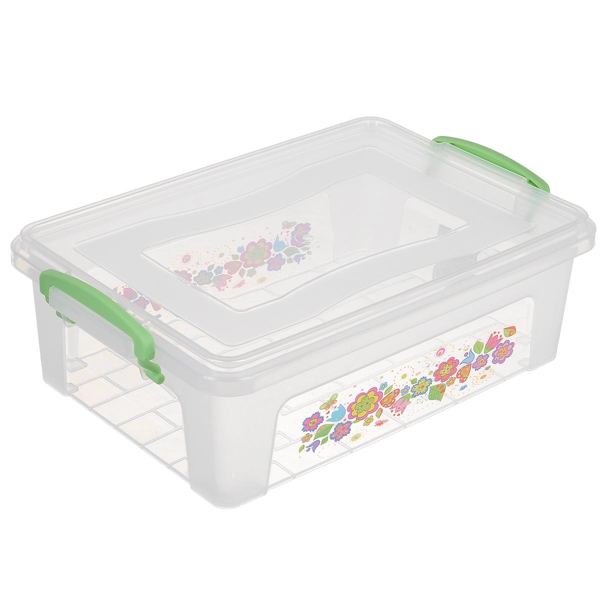 Контейнер Dunya Plastik Clear Box, цвет: зеленый, рисунок в ассортименте, 3,75 л. 3025330253зеленыйКонтейнер Dunya Plastik Clear Box выполнен из прочного пластика. Он предназначен для хранения различных мелких вещей. Крышка легко открывается и плотно закрывается. Прозрачные стенки позволяют видеть содержимое. По бокам предусмотрены две удобные ручки, с помощью которых контейнер закрывается. Контейнер поможет хранить все в одном месте, а также защитить вещи от пыли, грязи и влаги.
