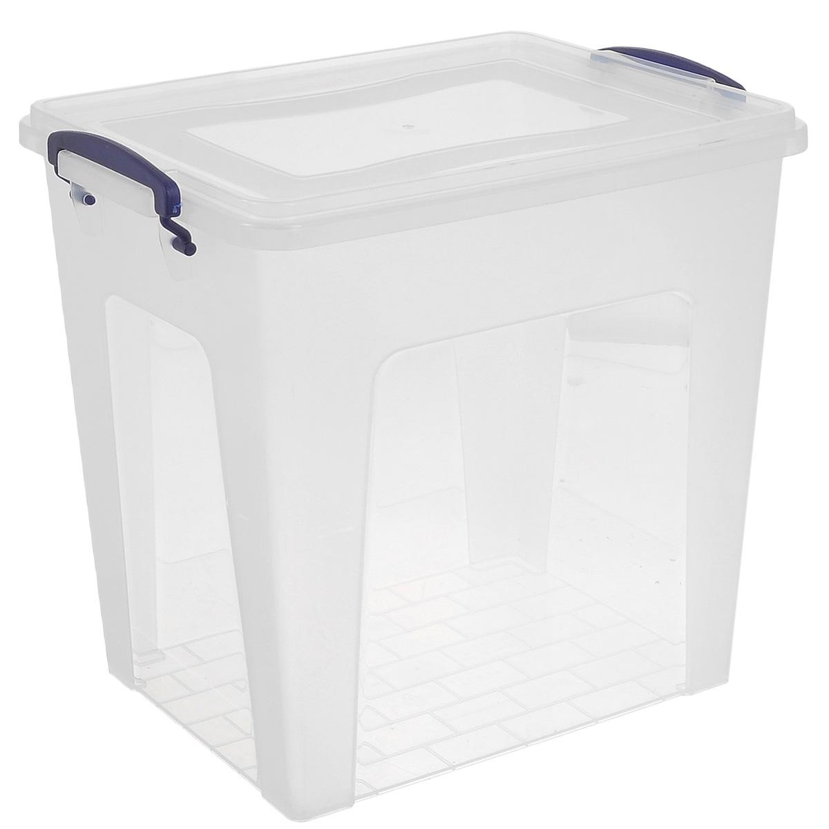 Контейнер Dunya Plastik Depo, цвет: прозрачный, синий, 11,5 л30173Контейнер Dunya Plastik Depo выполнен из прочного пластика. Он предназначен для хранения различных мелких вещей. Крышка легко открывается и плотно закрывается. Прозрачные стенки позволяют видеть содержимое. По бокам предусмотрены две удобные ручки, с помощью которых контейнер закрывается. Контейнер поможет хранить все в одном месте, а также защитить вещи от пыли, грязи и влаги. Размер контейнера (с учетом крышки): 30 см х 20 см. Высота (с учетом крышки): 27,5 см. Объем: 11,5 л.