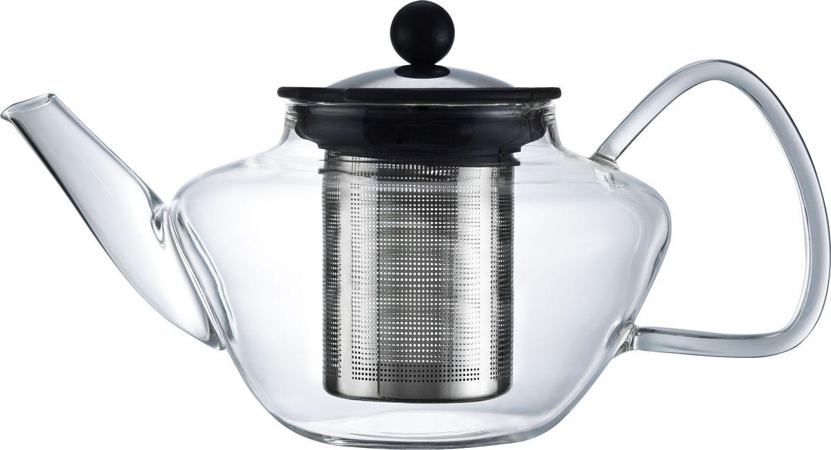 Чайник заварочный Walmer Lord, с фильтром, 600 млW03001060Заварочный чайник Walmer Lord, изготовленный из термостойкого стекла, предоставит вам все необходимые возможности для успешного заваривания чая. Чай в таком чайнике дольше остается горячим, а полезные и ароматические вещества полностью сохраняются в напитке. Чайник оснащен фильтром и крышкой из углеродистой стали. Сверху на фильтре имеется силиконовая накладка для надежной фиксации. Простой и удобный чайник поможет вам приготовить крепкий, ароматный чай. Нельзя мыть в посудомоечной машине. Не использовать в микроволновой печи. Диаметр чайника (по верхнему краю): 7,5 см. Высота чайника (без учета крышки): 9,5 см. Высота фильтра: 7 см.