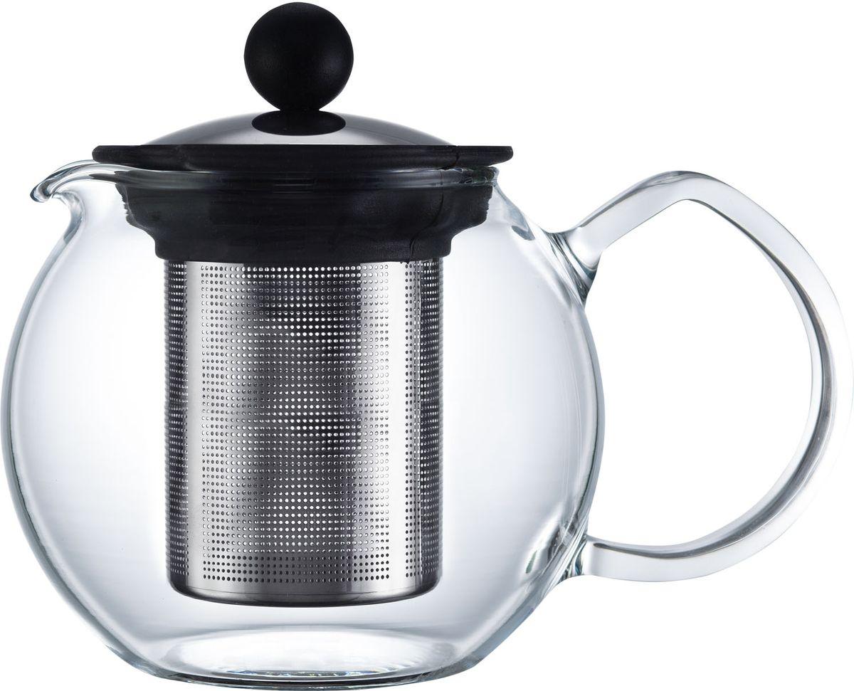 Чайник заварочный Walmer Baron, с фильтром, 500 млW03003050Заварочный чайник Walmer Baron, изготовленный из термостойкого стекла, предоставит вам все необходимые возможности для успешного заваривания чая. Чай в таком чайнике дольше остается горячим, а полезные и ароматические вещества полностью сохраняются в напитке. Чайник оснащен фильтром и крышкой из углеродистой стали. Сверху на фильтре имеется силиконовая накладка для надежной фиксации. Простой и удобный чайник поможет вам приготовить крепкий, ароматный чай. Нельзя мыть в посудомоечной машине. Не использовать в микроволновой печи. Диаметр чайника (по верхнему краю): 7,5 см. Высота чайника (без учета крышки): 10,5 см. Высота фильтра: 9 см.