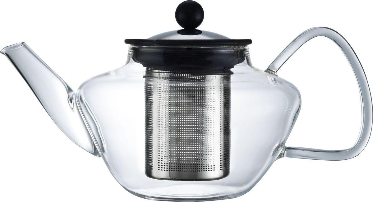 Чайник заварочный Walmer Lord, с фильтром, 1,2 лW03011100Заварочный чайник Walmer Lord, изготовленный из термостойкого стекла, предоставит вам все необходимые возможности для успешного заваривания чая. Чай в таком чайнике дольше остается горячим, а полезные и ароматические вещества полностью сохраняются в напитке. Чайник оснащен фильтром и крышкой из углеродистой стали. Сверху на фильтре имеется силиконовая накладка для надежной фиксации. Простой и удобный чайник поможет вам приготовить крепкий, ароматный чай. Нельзя мыть в посудомоечной машине. Не использовать в микроволновой печи. Диаметр чайника (по верхнему краю): 9 см. Высота чайника (без учета крышки): 12,5 см. Высота фильтра: 11 см.