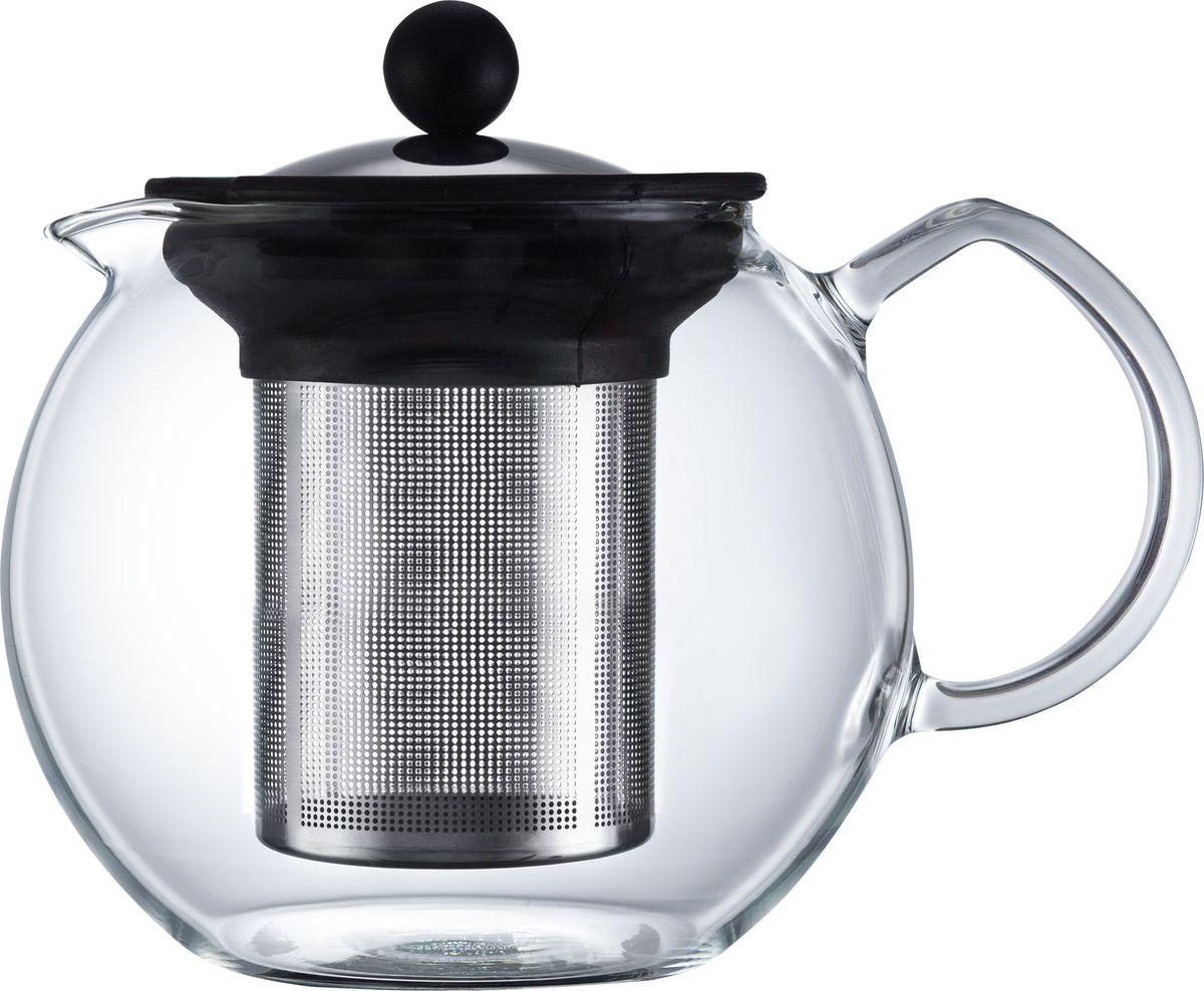 Чайник заварочный Walmer Baron, с фильтром, 1 лW03013100Заварочный чайник Walmer Baron, изготовленный из термостойкого стекла, предоставит вам все необходимые возможности для успешного заваривания чая. Чай в таком чайнике дольше остается горячим, а полезные и ароматические вещества полностью сохраняются в напитке. Чайник оснащен фильтром и крышкой из углеродистой стали. Сверху на фильтре имеется силиконовая накладка для надежной фиксации. Простой и удобный чайник поможет вам приготовить крепкий, ароматный чай. Нельзя мыть в посудомоечной машине. Не использовать в микроволновой печи. Диаметр чайника (по верхнему краю): 9 см. Высота чайника (без учета крышки): 12 см. Высота фильтра: 10,5 см.