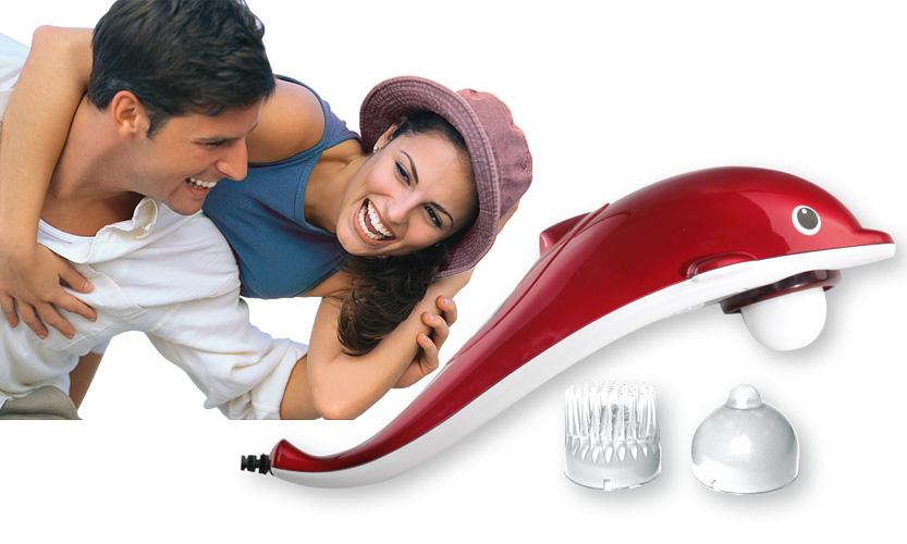 Массажер для ухода за телом Дельфин. AMG 60931301043Массажер Дельфин сочетает функцию кулачкового массажа с инфракрасным прогревом, два уровня интенсивности, снимает усталость, улучшает кровообращение, способствует расслаблению мышц, активизирует обменные процессы и нормализует мышечный тонус. Массажер Дельфин имеет 3 сменные насадки: общий массаж, точечный массаж, деликатный массаж. Аппарат работает от сети переменного тока 220 В, 50Гц. Характеристики: Размер массажера: 38 см х 11 см х 11 см. Длина шнура питания: 180 см. Производитель: Франция. Артикул: 1301043. Гарантия 1 год сервисного обслуживания.