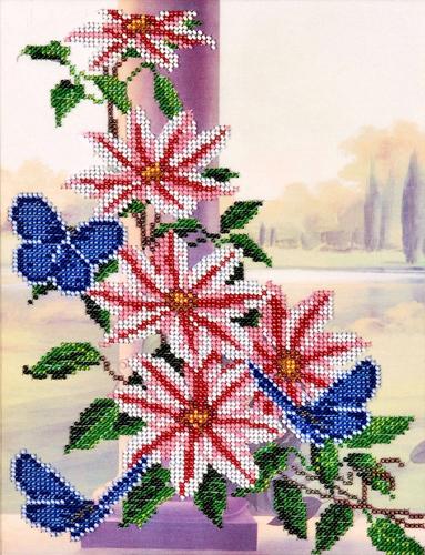 Набор для вышивания бисером Hobby & Pro Клематис, 20 х 26 см581439Набор для вышивания бисером Hobby & Pro Клематис поможет вам создать свой личный шедевр - красивую картину, частично вышитую бисером по цветному фону. Работа, выполненная своими руками, станет отличным подарком для друзей и близких! Набор содержит: - ткань с нанесенным цветным рисунком (размер ткани 37 см х 31 см), - бисер Preciosa Ornela (Чехия) - 14 цветов, - игла для бисера, - инструкция на русском языке.