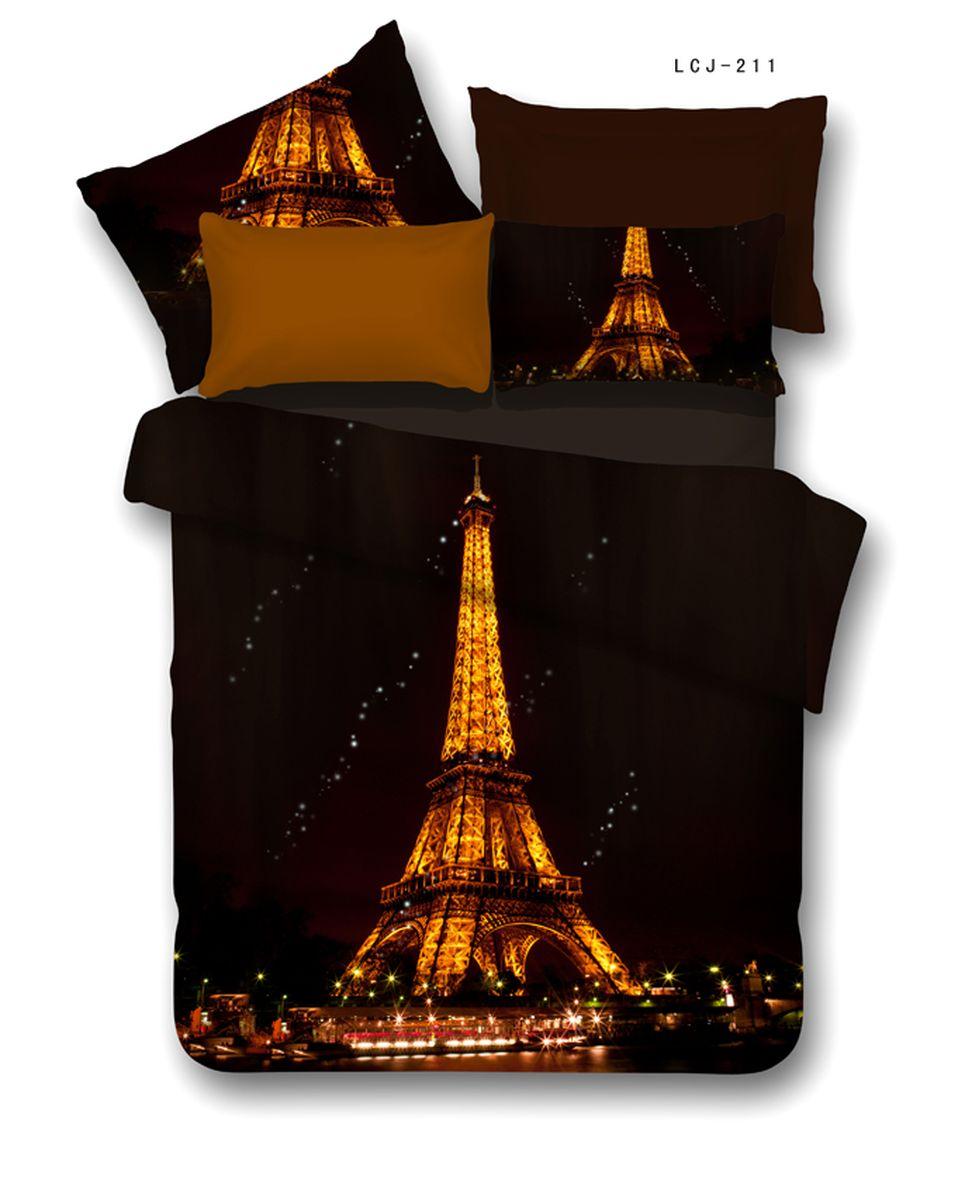 Комплект белья Buenas noches RS Eiffel, 2-спальное. 6880168801Buenos Noches – Элегантно, Стильно, Качественно! Buenos Noches -продукция с высоким качеством исполнения. У Buenos Noches Вы найдете постельное белье, пледы и покрывала. Вся продукция выполнена из тканей высшего качества с использованием стойких и безвредных красителей. Все серии товаров Buenos Noches имеют презентабельную, оригинальную и подарочную упаковку. Что послужит прекрасным подарком на любое торжество! Фотопечать 3D Buenos Noches - это красочные, объемные, реалистичные рисунки, нанесенные на ткань методом реактивной, многопиксельной 3D печати. Коллекция дизайнов Фотопечати 3D перенесет Вас и Ваших близких, в сказочный мир современных мегаполисов, сказочных цветов, в мир экзотической природы! Сатин - 100% Хлопок! Исключительно для Фотопечати 3D используется эта великолепнаяя материя, полученная из гребенной пряжи элитных, тонкорунных, длинных хлопковых волокон, беспечивающих самые высокие показатели, которые может дать хлопковая ткань. Пододеяльник-180*215, Простыня-220*240,...